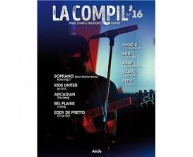 LIBRAIRIE - La compil n°16 - Piano,chant, guitare - Soprano, LYkke Li, Eddy De pretto - Ed : Aède Music