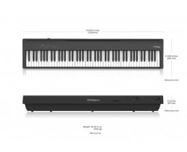 ROLAND FP-30X-BK - Piano numérique,88 notes,Toucher lesté, Noir