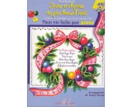 Jouez et chantez les plus beaux Noêls, pièces faciles pour piano - Sonya Veczan - Ed Lemoine (copie)