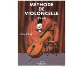 Méthode de violoncelle VOL2 - Odile Bourin - Ed Lemoine