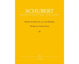 Schubert - Works for Piano Duet III - Bärenreiter