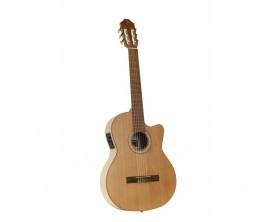 """JUAN SALVADOR - JS1CEOP - Guitare classique 4/4 ,cèdre massif , Electro-acoustique , finition naturel """"open pore"""""""