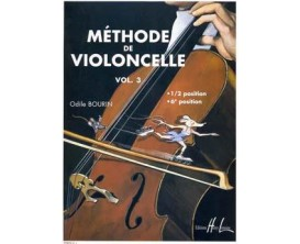 Méthode de violoncelle Vol.3 - Odile Bourin - Ed Lemoine