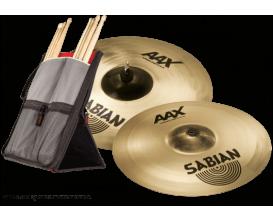 "SABIAN - AAX 25006XB1 Crash - Pack Xplosion 16""18"" + housse StickFlip"