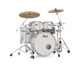 """PEARL - MMG924XSP/C187 - Masters Maple Gum 22"""" Silver White Swirl Shell Set"""