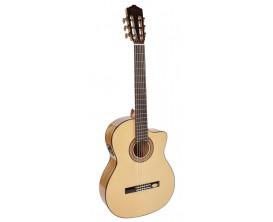 SALVADOR CORTEZ - CF55CE - guitare classique, table en épicéa massif, fond & éclisses en sycomore, Fishman, cutaway
