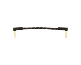 """FENDER 0990820074 - Deluxe Series Instrument Cables (Bowl of 20), Angle/Angle, 6"""", Black Tweed"""