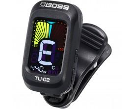 BOSS - TU-02 Clip-On Tuner pour guitare, basse et ukulélé