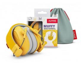 ALPINE Muffy Yellow Smile - Casque de protection auditive, Taille enfant, Tout instrument dont batterie, -25db, Jaune