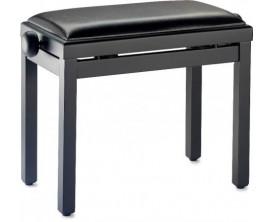 STAGG PB39 BKM SBK Banquette piano noir mat avec pelote en skai noir