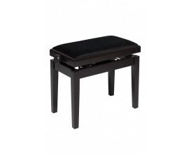 STAGG - PBH 390 RWM VBK - Banquette de piano, hydraulique, palissandre mat avec pelote en velours noir ignifugée