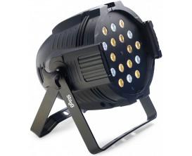 STAGG SLI KINGPAR5-0 - Projecteur à LED, 18 x 3W LED blanches froides et chaudes *