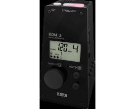 KORG KDM-3 - Métronome numérique, 8 sonorités, look métronome mécanique, noir