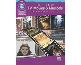 Top Hits From TV, Movies & Musicals Instrumental Solos (Alto Sax, avec CD) - Alfred Publishing