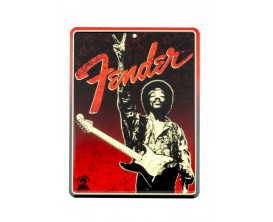 "FENDER 9100279000 - Fender Jimi Hendrix ""Peace Sign"" Tin Sign"