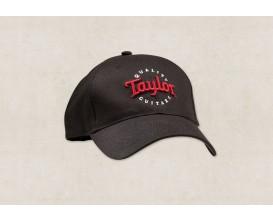 TAYLOR 00378 - Casquette Taylor Noir, Broderie rouge