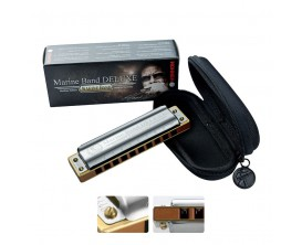 HOHNER M200510X Marine Band Deluxe A (La), 20 notes, sommier: poirier