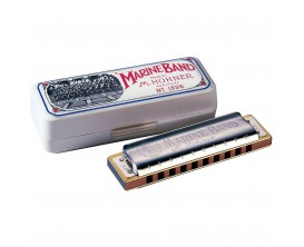 HOHNER M1896017 - Harmonica Marine Band Classic C (Do), 20 notes, sommier : poirier