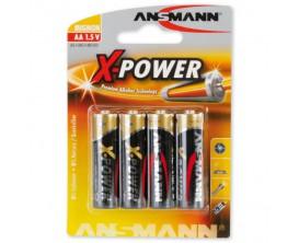ANSMANN - Lot de 4 piles Alcalines AAA 1.5V (LR03)