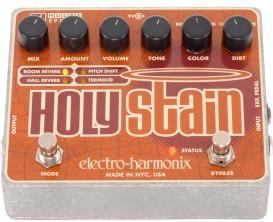 ELECTRO-HARMONIX Holy Stain - Disto / Reverb/ Pitch / Tremolo (Alim 9.6V fournie)