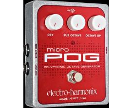 ELECTRO-HARMONIX Micro Pog - Polyphonic Octave Generator - Série XO (Alim 9.6DC-200 fournie)