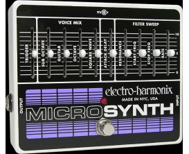 ELECTRO-HARMONIX Microsynth - Analog Guitar Synthesizer - Série XO (Alim 9.6DC-200 fournie)