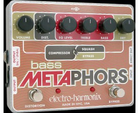 ELECTRO-HARMONIX Bass Metaphors - Preamp/EQ/Distortion/Compressor/DI Multi-Effect - Série XO