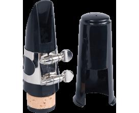 SML & CIE 2332K - Kit bec clarinette sib (Bec ébonite avec ligature métal et couvre bec plastique)