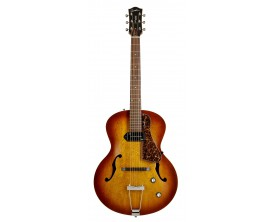 GODIN 5th Avenue Kingpin P90 - Guitare Archtop, 1 x Micro P-90, Finition Cognac Burst, avec softcase Tric