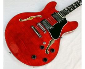 EASTMAN T486 RD - Semi Hollowbody, Corps et table érable, Manche érable Touche ébène, 2 Humbuckers Seymour Duncan (Jazz + '59),