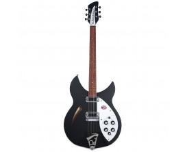 RICKENBACKER 330MBL - Guitare Demi-caisse érable, Noir Mat, avec étui