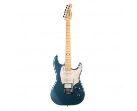 GODIN Session Desert Blue Limited Edition - Guitare type Strat, Série limitée, 2 Simples Godin + 1 Humbucker Seymour SH-11, Dese