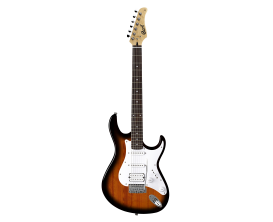 CORT G110 2T v2 - Guitare électrique, micros SSH, Corps peuplier, Manché érable touche Merbau, Sunburst 2 tons