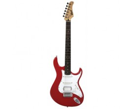 CORT G110 RD v2 - Guitare électrique, micros SSH, Corps peuplier, Manché érable touche Merbau, Rouge