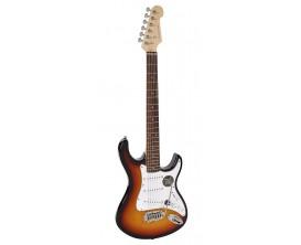 """RICHWOOD REG-322-3SB - Guitare électrique """"Santiago Standard"""", type strat, Corps Oukoume, Manche érable canadien touche palissan"""