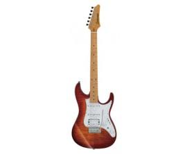 IBANEZ AZ224F BTB - Guitare électrique série AZ Premium, Corps Basswood, manche et touche érable, Vibrato Gotoh T1502, Micros Se