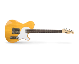 CORT Classic TC Nat - Guitare électrique type Tele, Design Manson, Corps en Frêne, Manche érable touche RW, 2 micros simples, Bl
