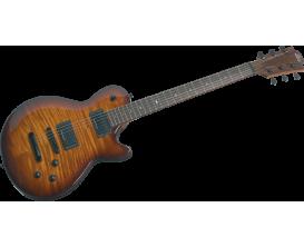 LAG I200BRS - Guitare électrique série Imperator, Table flammée, Brown Shadow
