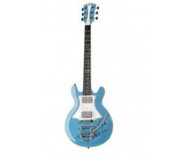 LAG RR2000 VBL - Guitare électrique Roxane Racing, Bigsby, Vintage Blue (Avec gig bag)