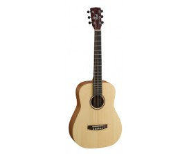 CORT Earth Mini Op - Dreadnought Taille 3/4, Epicéa massif / acajou, Open Pore Natural, Housse