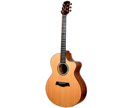 TIMBERLINE T65Ac - Guitare Acoustique Format Auditorium, pan coupé, tout bois massif, corps Acacia, table Red Cedar, Touche et c