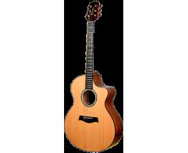 TIMBERLINE T65Ac - Guitare Acoustique Format Auditorium, pan coupé, tout bois massif, corps Acacia, table Red Cedar, Touche et c
