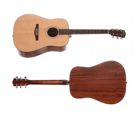 EASTMAN DR-1 - Dreadnought tout bois massifs, table épicéa Sitka, Corps Sapélé, Naturel Open Pore (avec Gigbag)