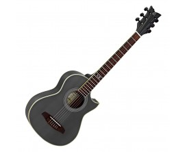 ORTEGA NL Walker-BK - Guitare Folk de voyage noire.