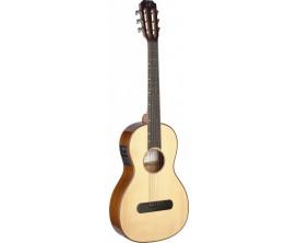 J.N. GUITARS LIS-PFI - Guitare E/A Parlor, série Lismore, table épicéa massif, tête ajourée