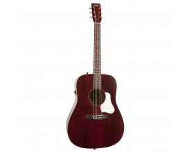 ART&LUTHERIE Americana QIT Tennessee Red - Guitare Dreadnought électro-acoustique QIT, Finition Tennessee Red