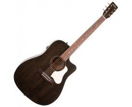 ART&LUTHERIE Americana QIT CW Faded Black - Guitare Dreadnought électro-acoustique QIT, Cutaway, Finition Faded Black
