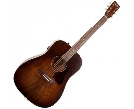 ART&LUTHERIE Americana QIT Bourbon Burst - Guitare Dreadnought électro-acoustique QIT, Finition Bourbon Burst