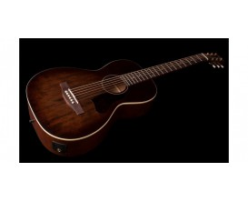 ART&LUTHERIE Roadhouse E/A Bourbon Burst - Guitare format Parlor, électro-acoustique Fishman, Finition Bourbon Burst