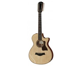 TAYLOR 752CE LTD - Guitare Grand Concert 12 Cordes 12-Frets, Corps Indian Rosewood, Table épicéa Lutz, Electro ES-2, Natural (A